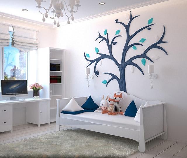 dekorace nad postelí