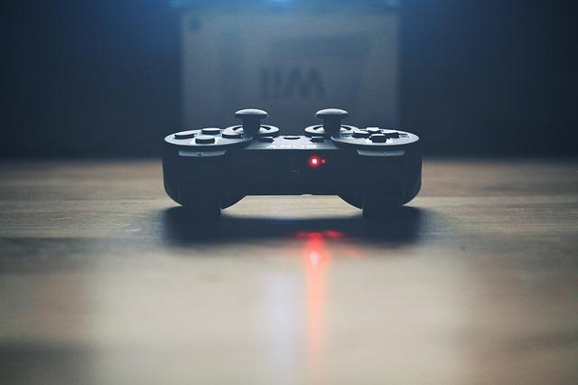 ovladač, hra, technika